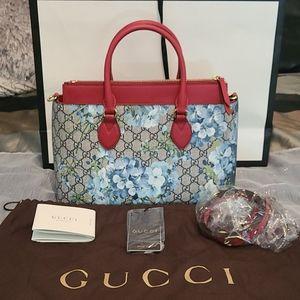 Gucci Blooms GG Supreme Canvas Shoulder Bag/Satche